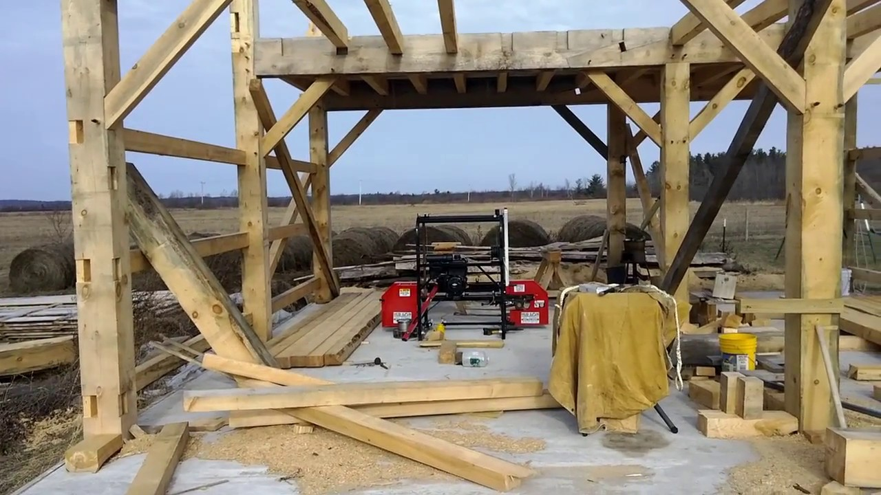 A Timber Frame Vlog #1: The Beginning - YouTube