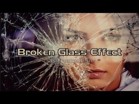 Make Broken Glass Effect Cara Membuat Efek Kaca Pecah Di Foto