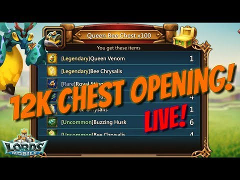 12k Chest Opening! - Lords Mobile