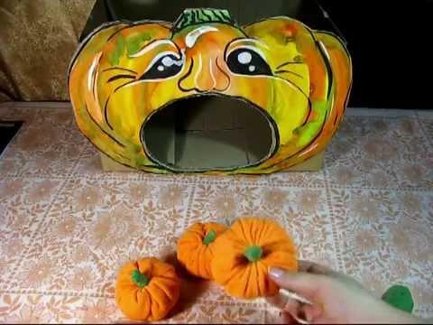 Готовимся к Хэллоуину.   Игра Голодная тыква!