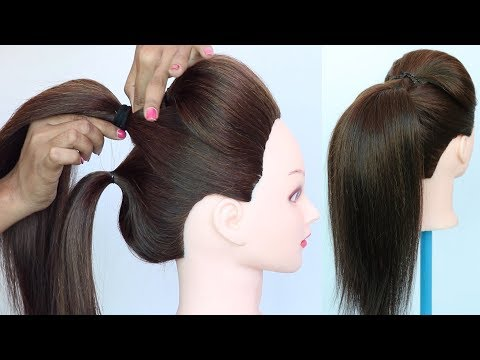 volumized high ponytail with puff using clutcher || ponytail trick || everyday hairstyle | hairstyle thumbnail