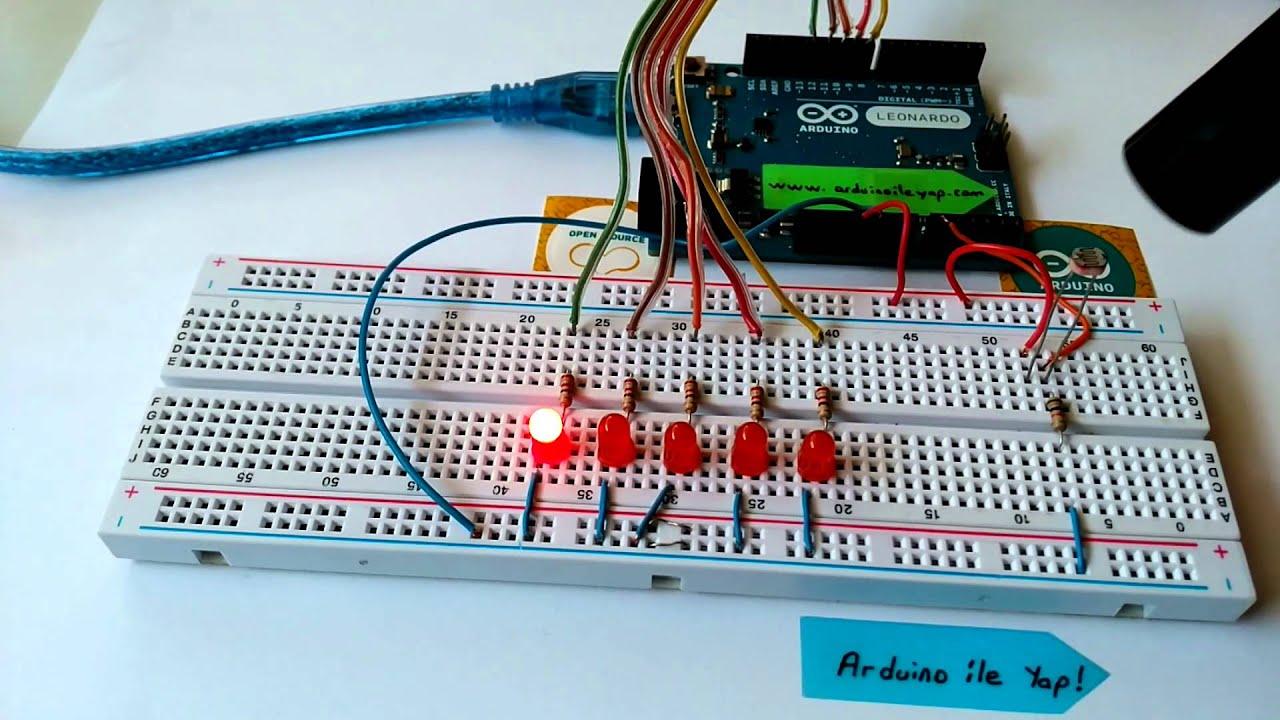 Arduino ile quot ldr kontrollü led uygulaması yap youtube