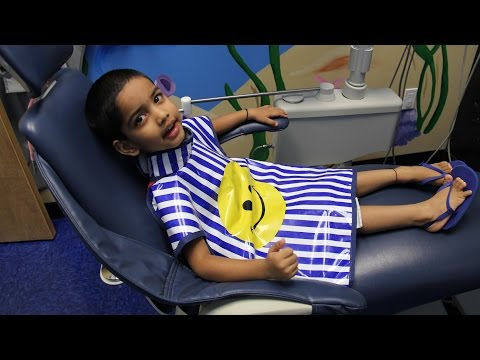Child's First Trip to the Dentist Visit Children Pediatric Dentistry Check up Cleaning Kids Video