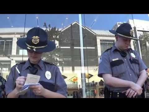 Copwatcher Trespassed from Apple Store for Filming from a Public Sidewalk