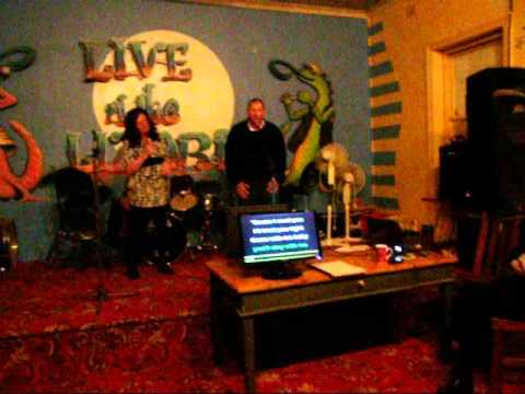 Geoffrey Swain singing karaoke at The Caltowie Hotel