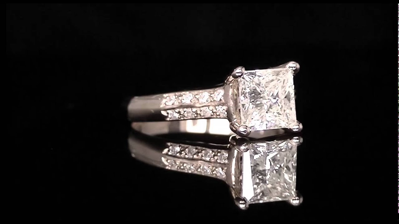 2 Ctw Princess Cut Diamond Multi Stone Engagement Ring In 14k Rose Gold