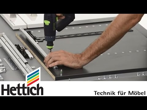 Systema Top 2000: Assembly of workstation pedestals, Hettich office organization