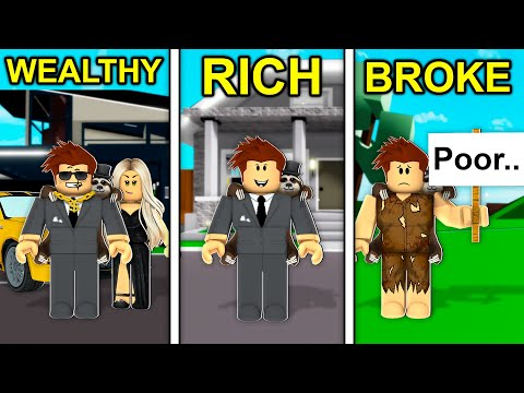 WEALTHY To RICH To BROKE In Roblox Brookhaven..