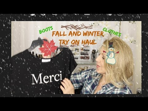 Tis the Season~ Fall/Winter TRY ON HAUL ~ Mature Women!