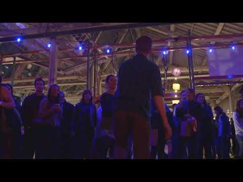 Dancing to the Royal Street Ramblers at the Denver Night Bazaar