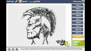 How to draw a punk