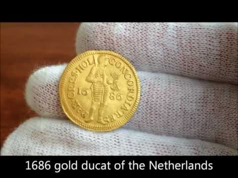 1686 gold ducat of the United Provinces of the Netherlands, or Holland