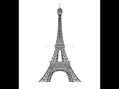 افضل واسهل طريقه لرسم برج ايفيل Youtube