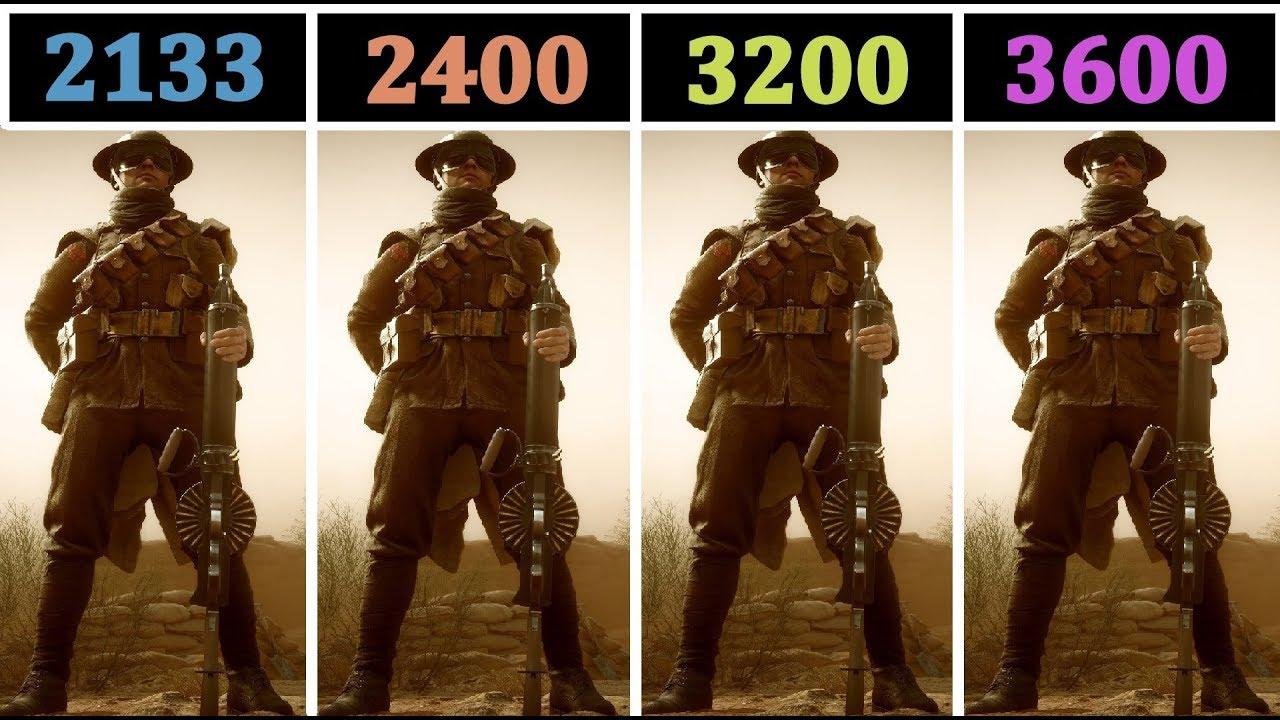 8GB (2133 vs 2400 vs 3200 vs 3600 Mhz) | Comparison |