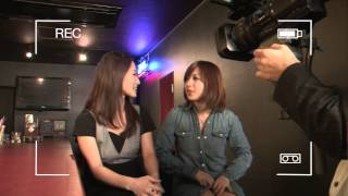 クロステンアクセサリーのテレビCM撮影風景。 モデルさんは愛沢舞美さん...