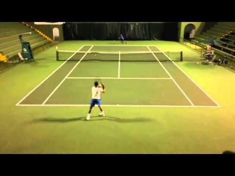 College Tennis Video Josef Altmann Saenz (Costa Rica)