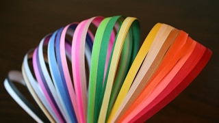 Paper Quilling-How to Make Paper Quilling Strips At Home