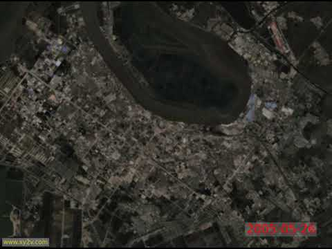 China, Yingkou, the highest frequency timelapse from space (1984..2020)