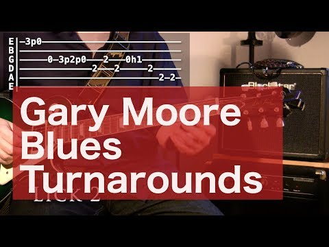 Gary Moore turnarounds from Walking By Myself - Blues Guitar Lesson