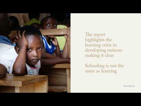 World Development Report 2018 Learning To Realize Education's Promise