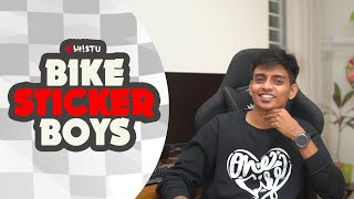 Bike Stickering Boys | Abhistu