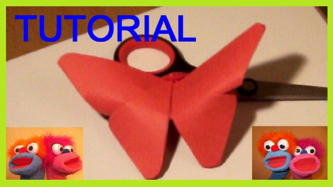 Como hacer mariposas de papel paso a paso y muy f cil - Papiroflexia paso a paso ...