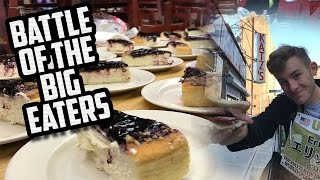 BATTLE OF THE BIG EATERS | FIRST DAY, CANNOLI, CHEESECAKE