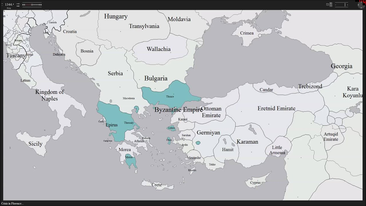 History Map Of The Byzantine Empire