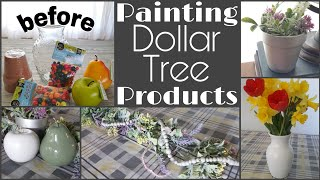 Painting Dollar Tree Products • more simple upgrades to $1 items