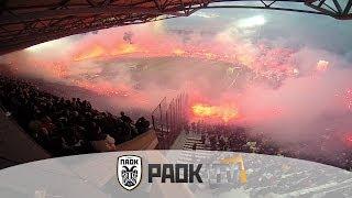 Η παρακάμερα του ΠΑΟΚ Vs Ολυμπιακος 1-0 - PAOK TV