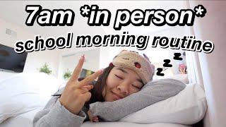 7am in person school morning routine | Nicole Laeno