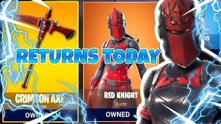 *RED KNIGHT* Fortnite Item Shop Reset (JULY 5TH) New Criterion Skin, Red Knight Skin RETURNS!!!