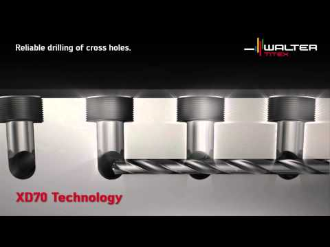 Walter Titex Holemaking XD70 Technology Deep hole drilling n
