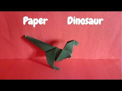 Origami Dinosaur | Velociraptor
