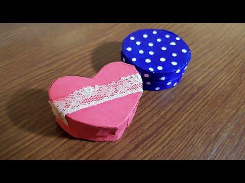 DIY Miniature Box/Jewelry Box from Paper Rolls