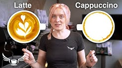 Latte VS Cappuccino, what's the difference? • Barista Training