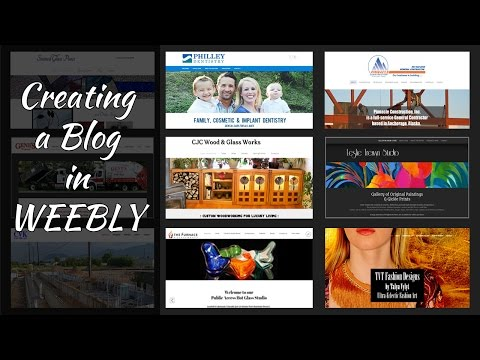 Creating Blog In Weebly