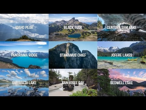 CANADIAN WEST - An Epic Timelapse / Drone Tour of BC (4K)