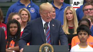 Trump Urges Youngsters To Play Sports