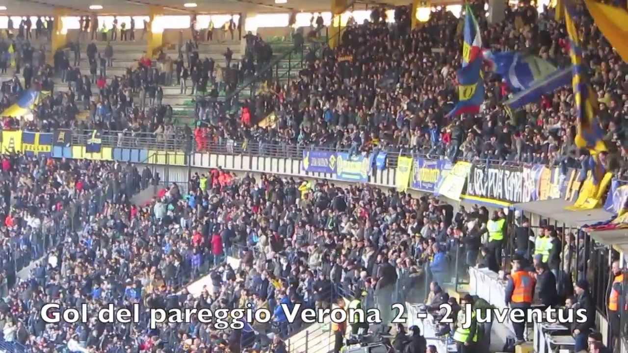 Verona - Juve 2-2 Tifo Butei Curva Sud Hellas Verona - YouTube