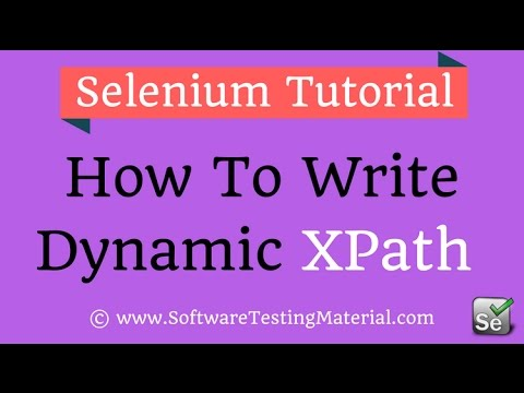 How To Write Dynamic XPath in Selenium