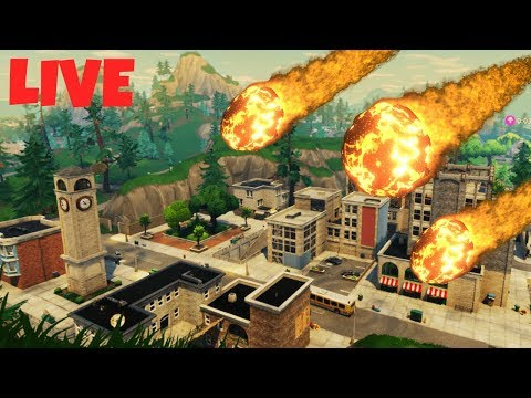 LIVE Tilted Towers Meteor Strike!! | Fortnite | What is happening?!