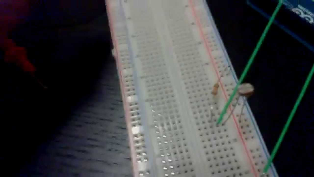 Arduino Tutorial 6 Read Analog Input From Photoresistor Youtube Thermistor 10k Circuit