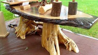 Meja Dan Kursi Kayu Model Unik,cantik / Furniture Unik Dan Keren