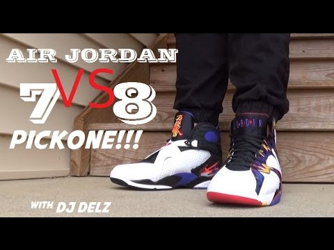 buy online 2ead9 665b3 Air Jordan Nothing But Net 7 VS Three Times A Charm 8 Sneakers  Pickone -  YouTube