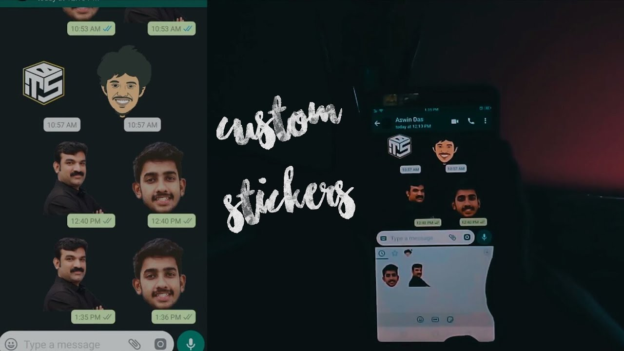 How to create custom stickers in whatsapp malayalam tech video