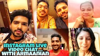 Armaan Malik Instagram Live Chat With Lucky Armaanians Full Masti Live Sessions 2018