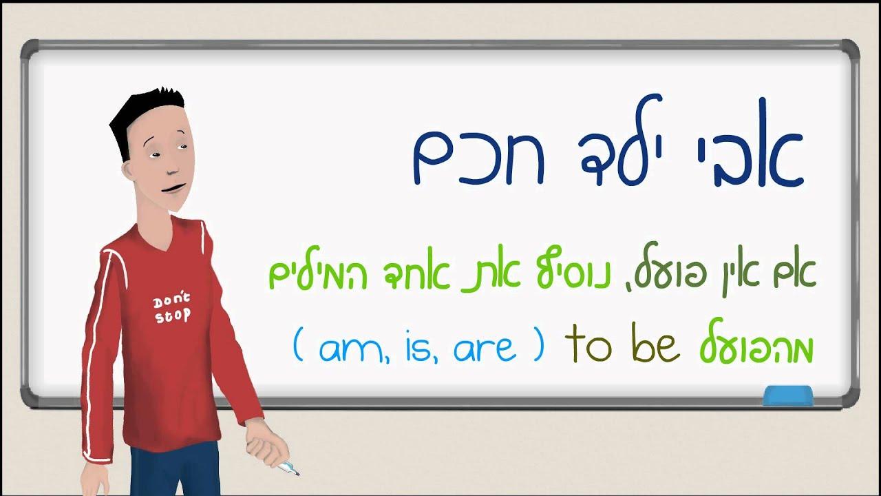 אנגלית: הווה פשוט - הפועל to be (המילים am,is,are) - משפטי מצב
