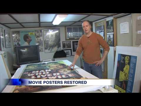 Video: Port Perry man meticulously restores vintage movie posters