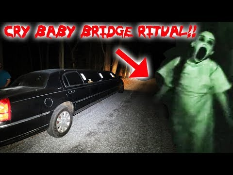 THE CRY BABY BRIDGE RITUAL ON THE HAUNTED CRY BABY BRIDGE! |